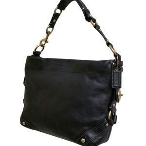Coach Carly Leather Hobo Shoulder Bag, Black